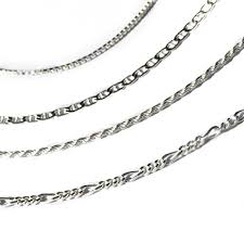 sterling silver necklace styles images Italian sterling silver chain 4 styles jpg