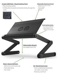 amazon com laptop standing desk with mouse pad adjustable