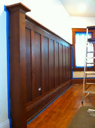 Wainscot America Stained Wood Wainscoting Custom Recessed Panel Wainscoting By