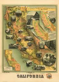 Map Wrapping Paper The Unique Map Of California David Rumsey Historical Map Collection