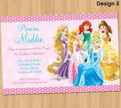 amazing disney princess birthday invitations free printable 36 for