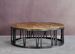 round wood and metal end table coffee table ideas circle coffee tables table fascinating dark