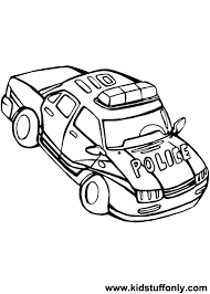 police car coloring pages kid stuff