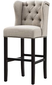 cushioned bar stool home decorators collection madelyn 31 25 in tan cushioned bar