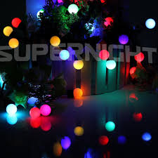 waterproof 50 rgb color changing led globe string lights for
