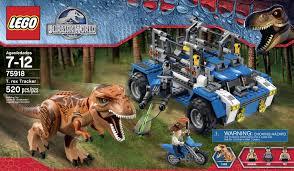 jurassic park car lego lego jurassic world dinosaur 75918 t rex tracker pack set 520pcs