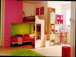 Double Deck Bed Designs Pink Beige And Pink Wood Bunk Bed With Double Beds And Wardrobe