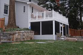Backyard Screen House by Chevy Chase Maryland Screen Room Under Deck