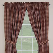 Lined Burlap Curtain Panels Country Panel Curtains Sturbridge Wine Lined Panel 84