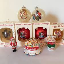 cbell ornaments lot of 9 vintage cbell s soup