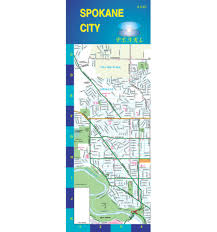 Map Of Spokane Washington Spokane Washington Pearl Map Laminated By Gm Johnson