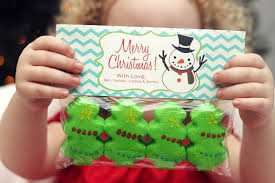 my christmas treat bag tag collection at home with natalie