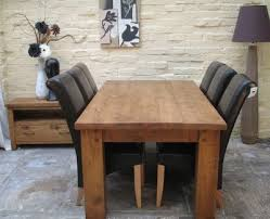 dinning room tables natural dining table black linen chairs