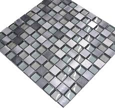 Metal Kitchen Backsplash Tiles Gray Blue Metal Glass Modern Kitchen Backsplash Tile Modern