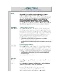 sample profile in resume teacher resume templates easyjob