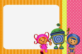 free printable invitations umizoomi free party printables images and invitations is it