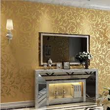 luxury european modern leaf wallpaper wholesale non woven papel