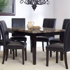 Contemporary Dining Table 3ft X 5ft Contemporary Dining Table With Faux Marble Tabletop