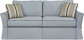 Two Cushion Sofa by Four Seasons Casual Custom Townhouse Slipcover Sofa