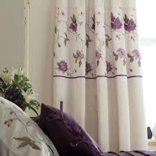 Purple Bedroom Curtains X 72 Purple Mauve Floral Embroidered Bedroom Curtains