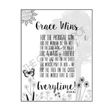 coloring page christian song grace wins matthew west song