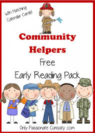 community helpers free pocket calendar cards and reading pack
