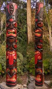 wall masks tiki bar supplies tiki tongue totem 3 tribal wood wall mask