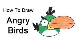 draw angry birds green bird
