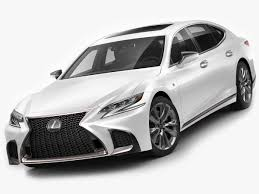 lexus sport car lexus ls500 f sport 2018 3d model in sedan 3dexport