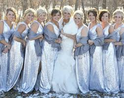 blue sequin bridesmaid dress sequin bridesmaid etsy