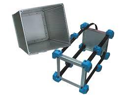 pc 104 aluminum railed card cage pc104 card cage rugged