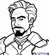 how to draw tony stark robert downey jr iron man 3 step by step