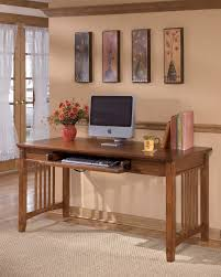 Big Office Desk Cross Island Medium Brown Home Office Large Leg Desk Home