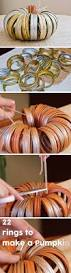thanksgiving favors to make 25 diy fall decor ideas for the home canning ring pumpkin