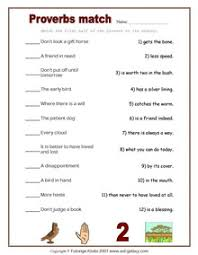 proverbs in english idioms worksheets for esl