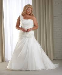 one shoulder plus sizes wedding dress xxl curves are beautiful