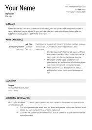 Resume Templates Pdf Free Chronological Resume Template Free Resume Template And