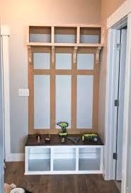 Mudroom Bench With Storage Building A Mudroom Bench Tutorial Entry Closet When I Get My