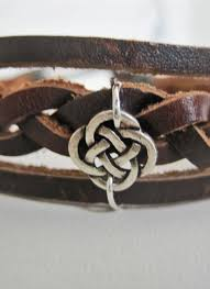 braided leather cuff bracelet images Silver celtic braided leather bracelet cuff 121559 by karen sudzik jpg