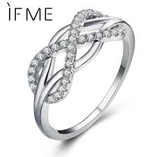 new fashion rings images If me new fashion crystal infinity rings micro inlayed cross rings jpg