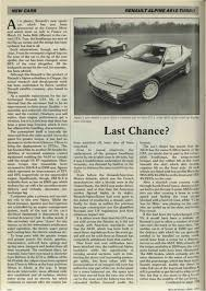 alpine a610 new cars renault alpine a610 turbo motor sport magazine archive