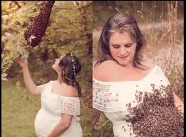 Maternity Photo Shoot Poses With 20 000 Bees In Shocking Maternity
