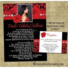 Sweet 15 Invitations Cards Red Quinceanera Invitations U2013 Gangcraft Net
