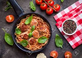 cours de cuisine vichy spaghetti with meatballs tomato sauce and ingredients