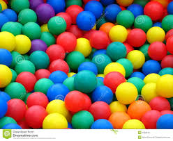 plastic balls in different colors royalty free stock image image