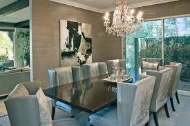 Neutral Dining Rooms 2017 Grasscloth Wallpaper Dining Room Contemporary Dining Room Los Angeles By Dayna
