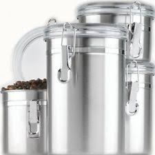 stainless steel kitchen canisters and jars ebay