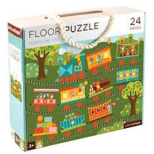 train floor puzzle train puzzle for kids petit collage