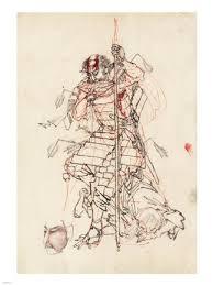 samurai sketch fine art print by unknown at fulcrumgallery com