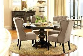 Modern High Back Wing Chair High Wingback Dining Room Chairs Tufted Leather For Sale